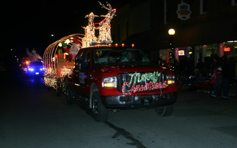 A Parade of Lights entry from Bartholomew Farms