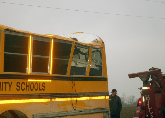 Tree falls on Blissfield school bus