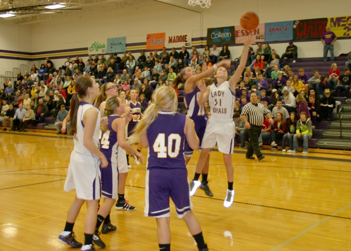 Women's varsity basketball, Feb. 11-15