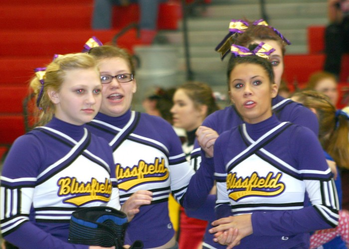 Season ends at districts for BHS cheer team
