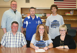 Denecker signs to play basketball at U of St. Francis